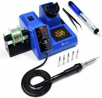 80W 110V SMD Rework Soldering Station Iron Kit Welding Tool Digital LED Display