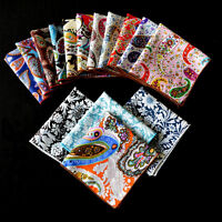 Mens Fashion Paisley Pocket Square Hanky Cotton Party Prom Wedding Hankerchief
