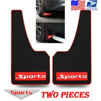 2X Heavy Black Soft Rubber Car Styling Sport Mud Flap Mudguards Fender Cover -US