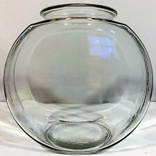 Heavy Duty Clear Glass FISH BOWL Round Drum Aquarium Terrarium Large 1.25 Gallon