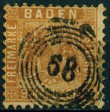 (Bad44aw) Baden Württemberg 1863, Michel Nr. 15, gestempelt, MK 90,00 €