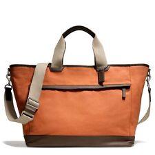 $448 NWT Coach Canvas Weekend Tote X-large Travel Duffel 70931 Orange/Dark Brown