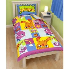 Moshi Monsters Childrens Character Double Duvet Quilt Cover Bedding Set Official