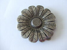 Nickel Belt Buckle Flower Design Antique