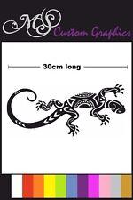 Grandes * Tribal Gecko * coche Decal, Vinilo, Drift Lizard Reptile Largo 30cm 12 Colores