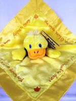 Christian Baby Security Blanket DUCK Psalm 4:8 Super Soft Yellow Duckie