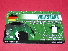 RARE FOOTBALL CARD FOOT2PASS 2010-2011 VFL WOLFSBURG FUSSBALL BUNDESLIGA
