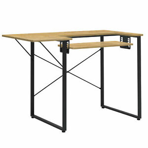 Sew Ready Dart Multipurpose Sewing Table Workstation w/ Folding Top, Black/Brown