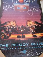 The Moody Blues Poster Signed Vintage Rock & Roll HOF John Lodge Ray Thomas 1994