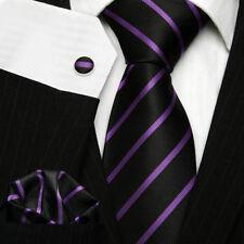 Corbatas, pajaritas y pañuelos de hombre set 100% seda