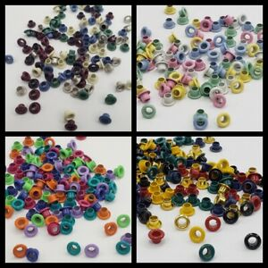 "1/8"" Round Eyelets Mix Choose from Primary Pastel Heritage Bright Scrapbooking"
