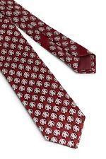 New Roberto Cavalli Red Logo Medallion Skinny Tie NWT Italy $195