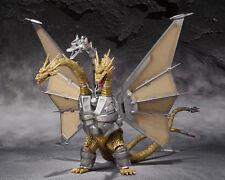 S.H.MonsterArts Godzilla Vs MECHA KING GHIDORAH Mechaghidorah Figure BANDAI. ^^