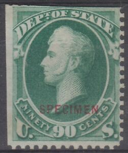 US Official Department of State Perry 90 cent Specimen Sc O67 cv $550