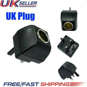 Cigarette Lighter Socket 240V Mains Plug to 12V Car Charger Power Adapter UK NEW