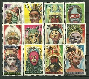 GUINEA 361-71, C68 MNH VARIOUS NIAMOU MASKS SCV 13.05
