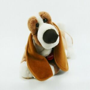 Trudi Plush Basset Hound Colbert 18 inch Italian Designed Realistic Pudgy Puppy