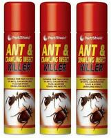 3 X 300ml Household Ants Killer Spray Ant & Crawling Flea Cockroach Insect Kill