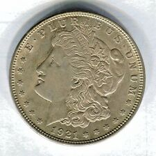 1921 MORGAN SILVER DOLLAR  AU Just For Luck DAN'S FINE FOODS NORFOLK NEBRASKA