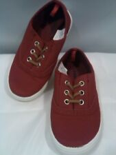 Old Navy boat deck shoes  Red Suede Canvas  Size 8 Toddler Boys