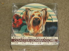 Adorable ThirstyStone Yorkshire Terrier dog coasters - set of 4