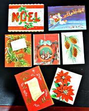 Vintage 1950's 1960's Lot of 7 Used Christmas Cards: Suitable Frame Scrapbooking