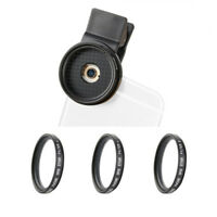 Zomei 37mm Star Cross Twinkle Filters Lens Kit 3 in 1 Phone Camera Lens Clip On