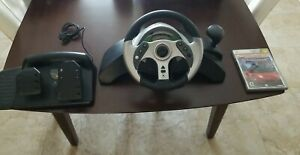 Mad Catz Racing Steering Wheel & Pedals for Original XBOX  **TESTED** +GAME!