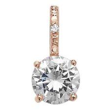 Collane e pendagli di lusso con gemme placcato oro rosa zircone