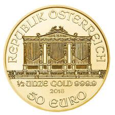 50 euro austria 2018 bu - 0,5 Oz oro Wiener filarmónica 2018