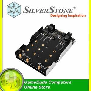 "SilverStone SDP12 3.5"" Device Bay to 2x M.2 SATA & 1x M.2 NVMe  SST-SDP12 [F33]"