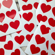 large Red heart decal stickers, packaging, envelope seals #1016