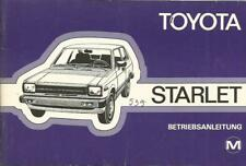 TOYOTA  Starlet  P6 Betriebsanleitung 1980 Bedienungsanleitung Handbuch  BA