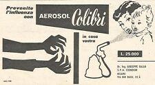 W1907 Aerosol COLIBRI - Pubblicità del 1958 - Vintage advertising