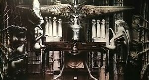 "H.R. GIGER SPELL II PRINT, VINTAGE 1974, MORPHEUS INT'L 39x22.25"", NEW NM-MINT"