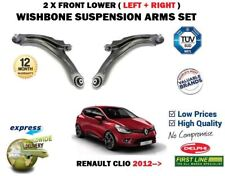 FOR RENAULT CLIO 2012-> 2X FRONT WISHBONE SUSPENSION CONTROL ARMS + BALL JOINTS