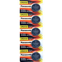 5 Pcs Panasonic CR2032 button cell Lithium battery  3V **EXP. 2029** FREE RETURN