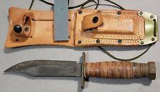 Vintage Camillus US Military Survival Knife W/ Sheath   USA