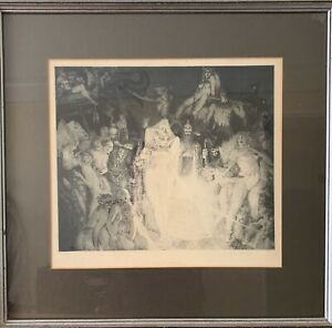 """Norman Lindsay Facsimile Etching,""""Enter the Magicians"""", 230/550 Limited Edition"""