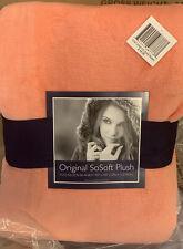 Berkshire Throw Blanket Sosoft Plush Blanket Coral Confetti Full/Queen