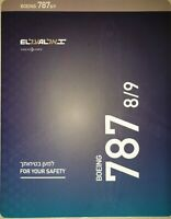 ELAL Airline Boeing 787-8/9 Dream Liner Safety Card New Revision 2019