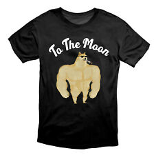 Doge To The Moon Dogecoin Crypto T Shirt Black