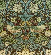 William Morris Vintage Wallpaper Strawberry Thief Chocolate/Slate sold per roll