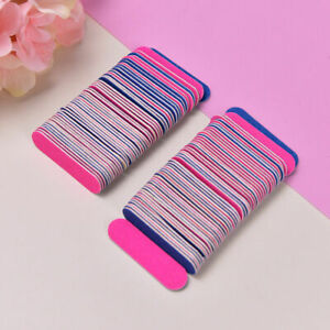 50pcs Mini Nail Files Buffers Nail Art Tools Manicure Disposable Cuticle Remover