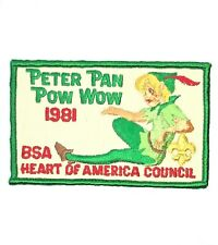 1981 Peter Pan Pow Wow Heart Of America Council Patch