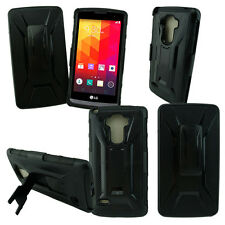 LG G STYLO LS770 THIN BLACK HARD CASE COVER + BELT CLIP HOLSTER Buy 1 Get 1 Free