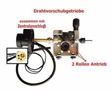 Drahtvorschubgetriebe 2-Rollen Antrieb  Rollengröße 30mm mit Zentralanschluß