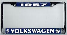 1957 Volkswagen VW Bubblehead Vintage California License Plate Frame BUG BUS T-3