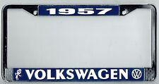 1957 Volkswagen VW Bubblehead Vintage California License Plate Frame BUG BUS T-3