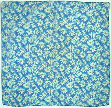 """BLUE FLOATY FLORAL SMALL 23"""" SQUARE, 1970s VINTAGE NECK SCARF"""